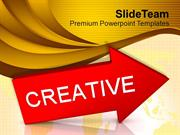 Red Arrow With Word Creative PowerPoint Templates PPT Themes And Graph