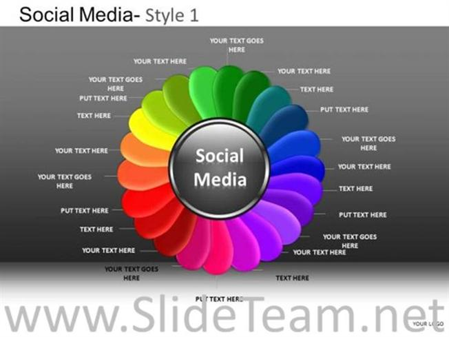 Corporate Strategy Social Media PPT Design-PowerPoint Diagram