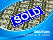 Sold Rider Sign Over Dollars Marketing PowerPoint Templates PPT Themes