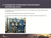 1.0 Fundamentals of Instrumentation and Automatic Control