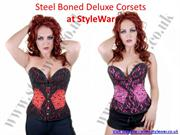 Crazy Chick Corset  Steel Boned Deluxe Corsets At StyleWar