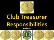 Lions Club Treasurer 2013-2014