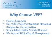 Valley Emergency Physicians Overview