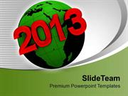 2013 On Earth New Year PowerPoint Templates PPT Themes And Graphics 01