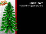Christmas Tree Celebration PowerPoint Templates PPT Themes And Graphic