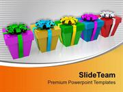 Colorful Christmas Presents PowerPoint Templates PPT Themes And Graphi