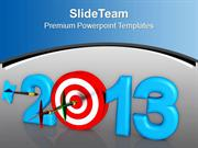 Dart Hook Target New Year Challenge PowerPoint Templates PPT Themes An