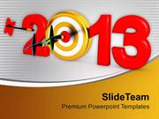 Dart Strike The Goal New Year PowerPoint Templates PPT Themes And Grap
