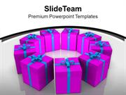 Exhibition Of Gifts Celebration PowerPoint Templates PPT Themes And Gr