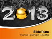 Golden Ball New Year 2013 PowerPoint Templates PPT Themes And Graphics