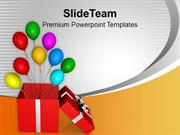 Opened Red Box Balloons Slide Layout PowerPoint Templates PPT Themes A