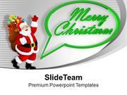 Santa Clause Merry Christmas PowerPoint Templates PPT Themes And Graph