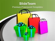Shopping Bags And Gifts Festival PowerPoint Templates PPT Themes And G