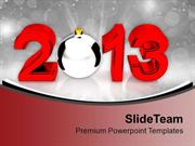 Silver Ball New Year PowerPoint Templates PPT Themes And Graphics 0113