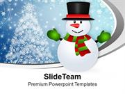 Snowman Cartoon Character X-max PowerPoint Templates PPT Themes And Gr