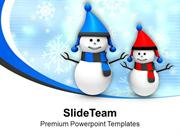 Snowman In Red And Black PowerPoint Templates PPT Themes And Graphics
