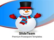 Snowman Vector Cartoon Christmas PowerPoint Templates PPT Themes And G