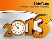 Time Concept With Clock New Year Celebration PowerPoint Templates PPT