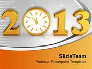 Time Concept With Clock New Year PowerPoint Templates PPT Themes And G