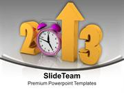 2013 With Alarm Clock Happy New Year PowerPoint Templates PPT Themes A