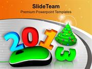 2013 With Computer Mouse Christmas Tree PowerPoint Templates PPT Theme