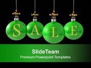 Christmas Balls Hanging Discount Sale PowerPoint Templates PPT Themes