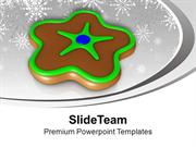 Christmas Cookie In Chocolate Color Festival PowerPoint Templates PPT