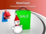 Christmas Sale Bags Winter Items Discount PowerPoint Templates PPT The