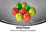 Colorful Balloons Birthday Party Time PowerPoint Templates PPT Themes