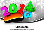 Computer Mouse With 2013 Christmas Tree PowerPoint Templates PPT Theme