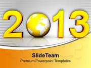 Creative New Year Concept With Globe PowerPoint Templates PPT Themes A