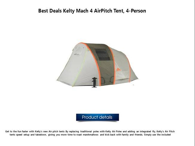 sc 1 st  authorSTREAM & Kelty Mach 4 Airpitch Tent 4-Person |authorSTREAM