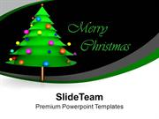 Merry Christmas Tree Festival Celebration PowerPoint Templates PPT The