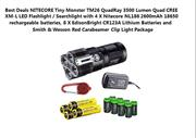NITECORE Tiny Monster TM26 QuadRay 3500 Lumen Quad CREE XM-L LED Flash