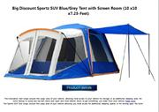 Sportz SUV Blue Grey Tent with Screen Room 10 x10 x7.25-Feet