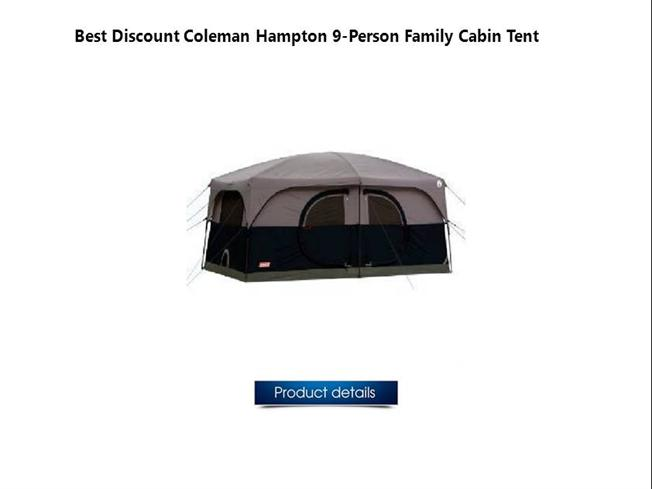 sc 1 st  authorSTREAM & Coleman Hampton 9-Person Family Cabin Tent |authorSTREAM