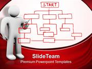 3d Man Drawing Organization Chart Business PowerPoint Templates PPT Th