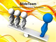 3d Men Balancing On Seesaw Business PowerPoint Templates PPT Themes An