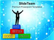 Business Man Improving Business Success PowerPoint Templates PPT Theme