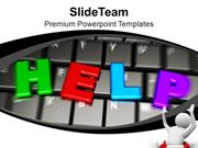 Computer Keyboard Help And Support Technology PowerPoint Templates PPT
