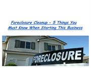 Foreclosure Cleanup
