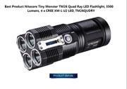 Nitecore Tiny Monster TM26 Quad Ray LED Flashlight 3500 Lumens 4 x CRE