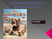 Download Gladiators of Rome free movie