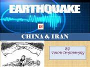 Presentation on china & iran earthquake