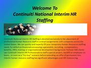 HR Staffing Contract Services