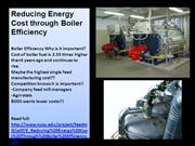 Reducing Energy Cost through Boiler Efficiency