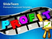 Online Business Profits Success Internet PowerPoint Templates PPT Them
