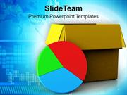 Pie Chart Out Of Box Marketing Business PowerPoint Templates PPT Theme