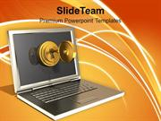 Secured Laptop And Information Technology PowerPoint Templates PPT The