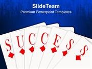Success Card Game PowerPoint Templates PPT Themes And Graphics 0113